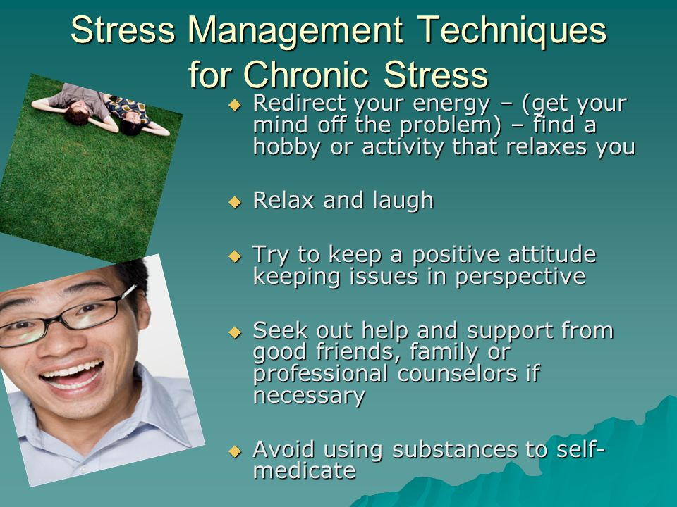 managing stress with a counselor or Stress is everywhere our counselors will teach you powerful stress management techniques to help you live a happier and healthier life.