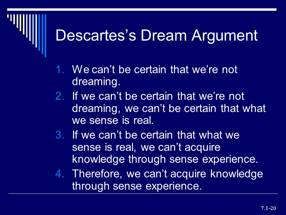 Philosophy of Dreaming