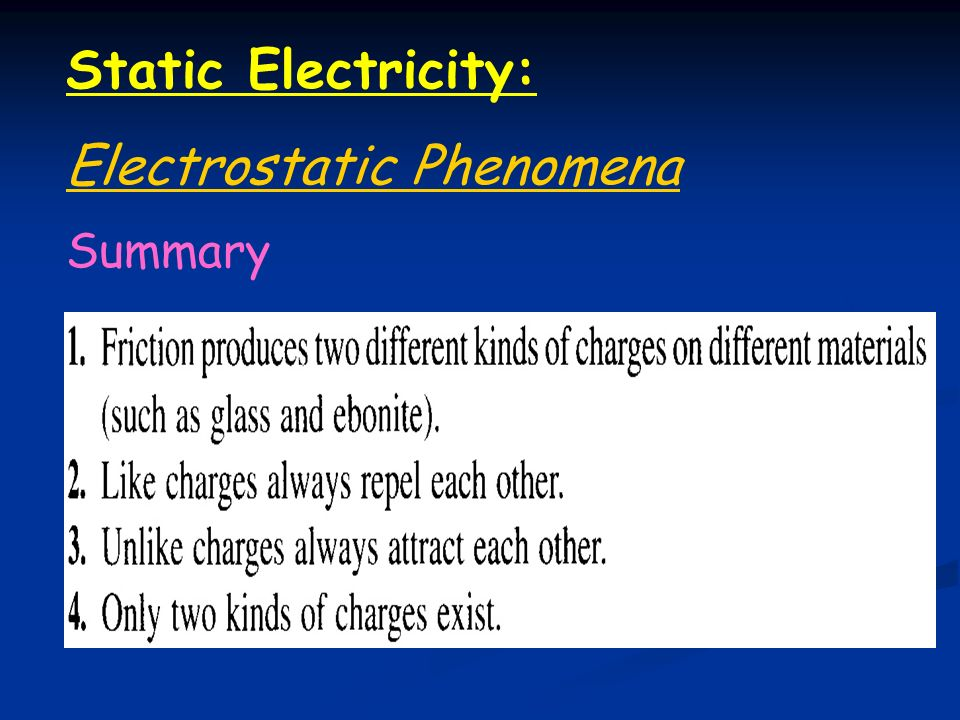 Chapter 17: Static Electricity:. - ppt video online download