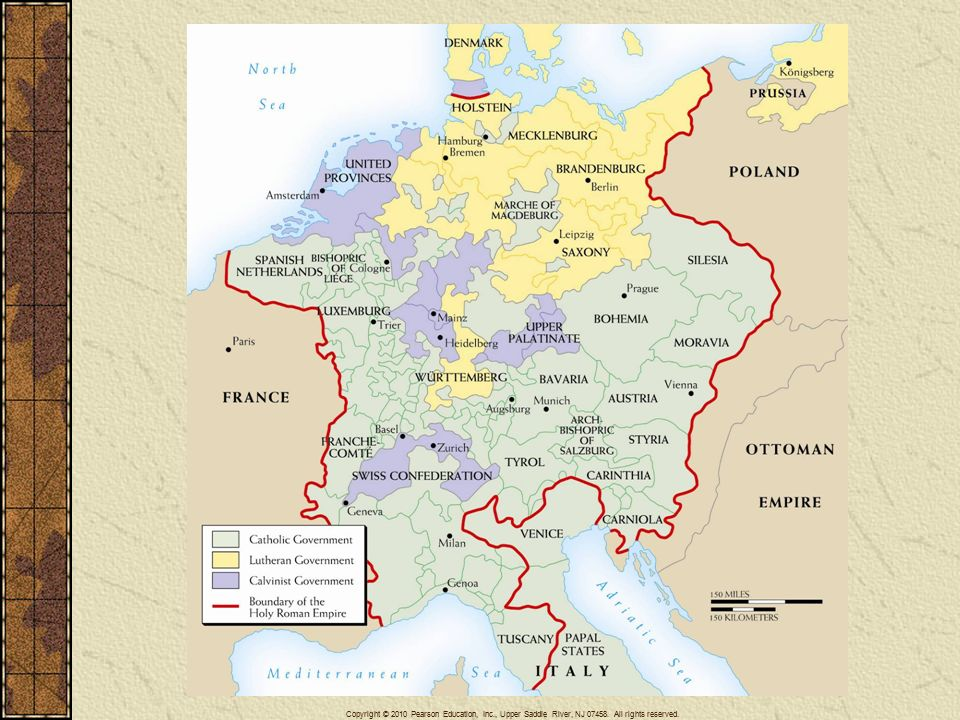 The Age Of Religious Wars Ppt Download - Map germany thirty years war