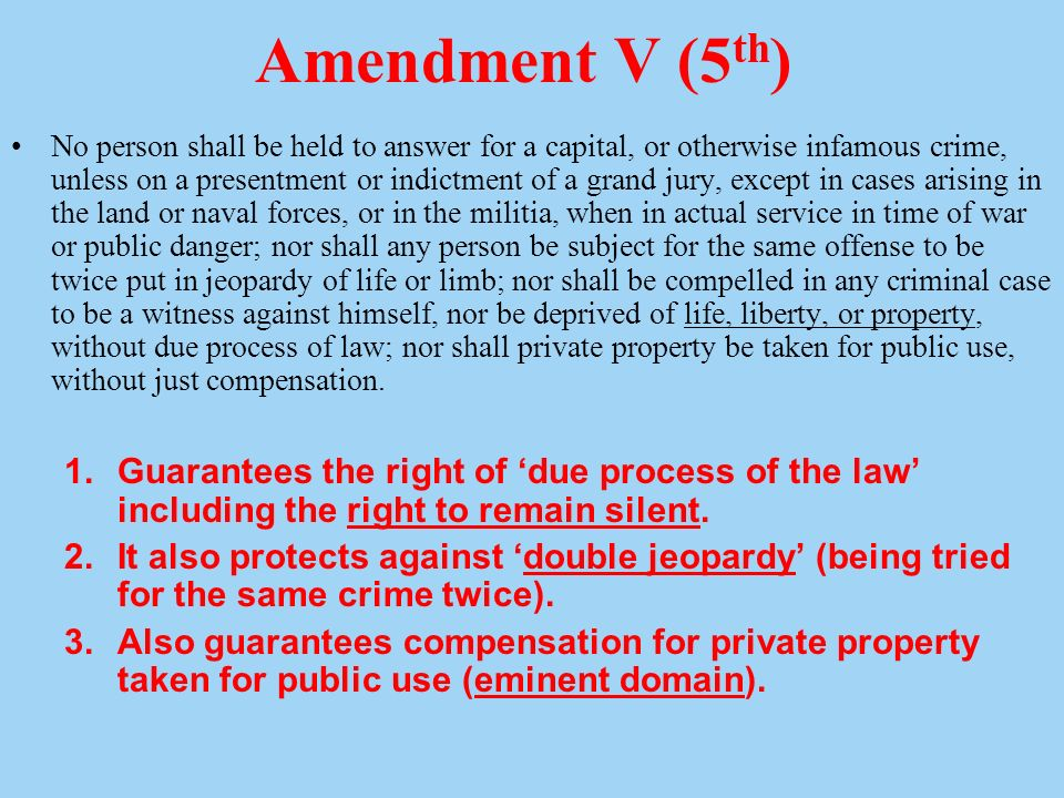 Th Amendment Private Property Rights