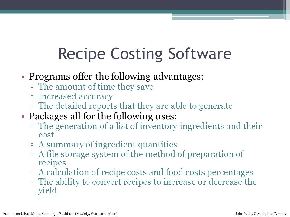 Chapter 7 recipe costing ppt download recipe costing software forumfinder Images