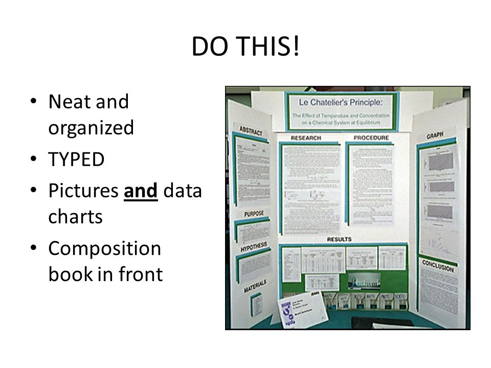 science project poster boards