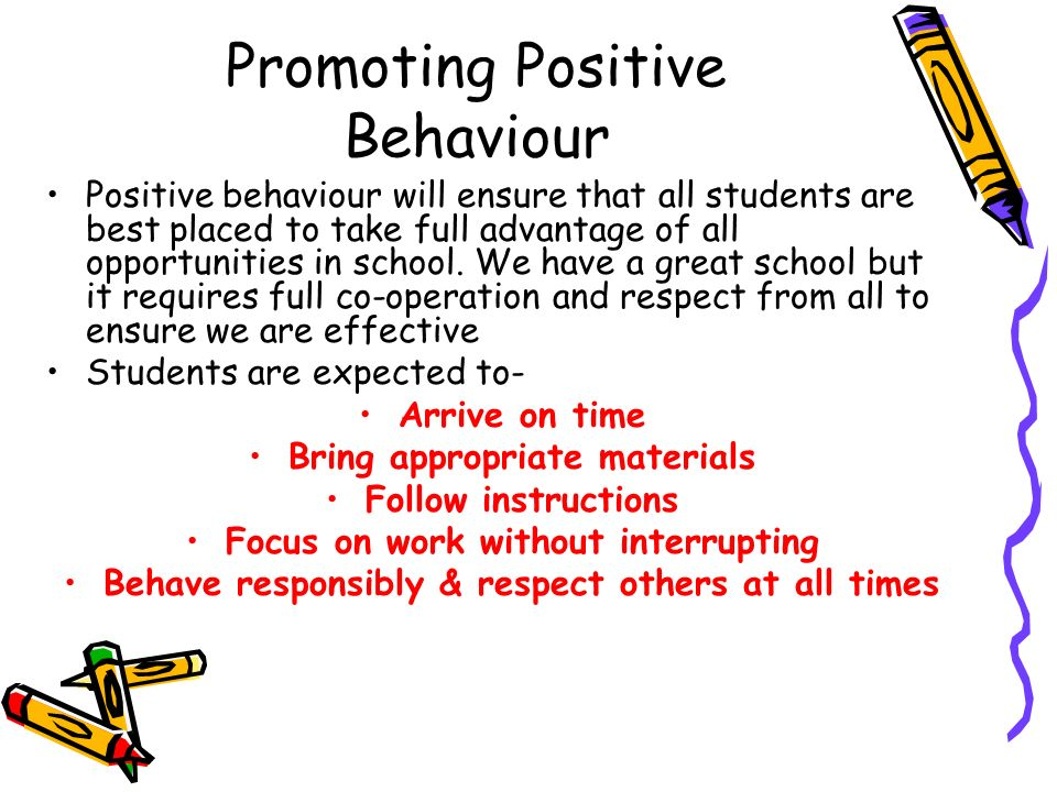 115 promote positive behaviour