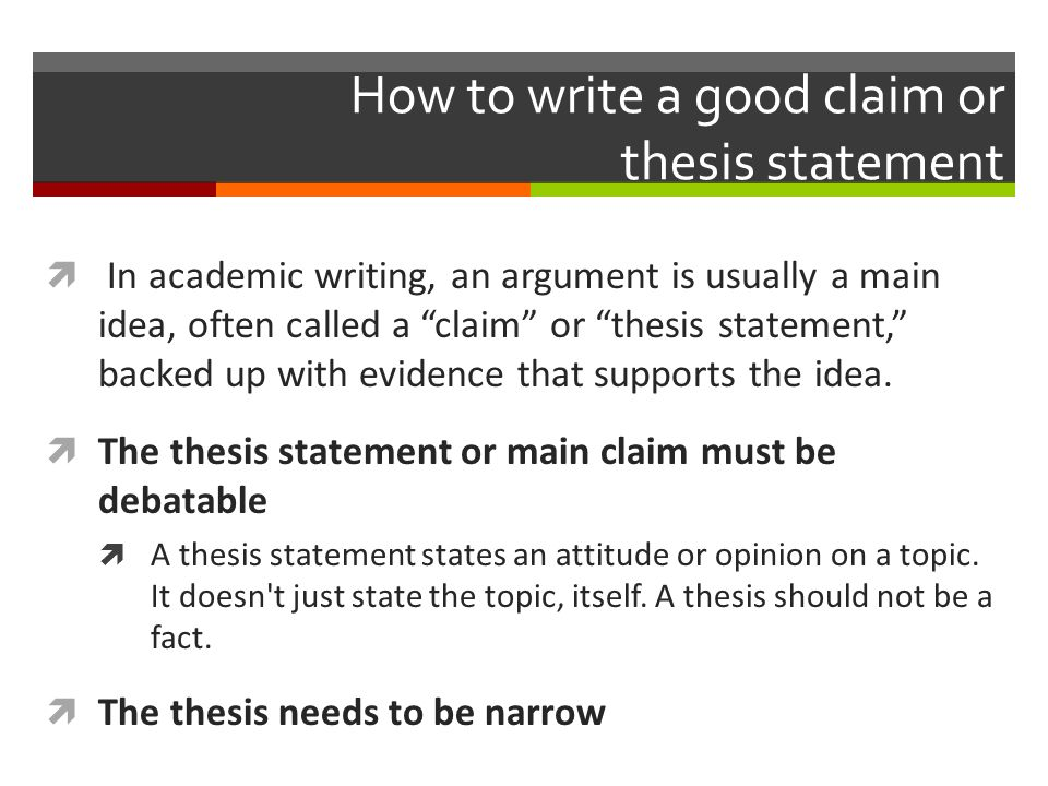 Tips on Writing a Thesis Statement
