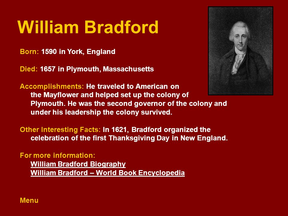 a comparison of john smith and william bradford Free college essay john smith vs william bradford john smith and william bradford were two important people who led to the settlement in america they were fine leaders.