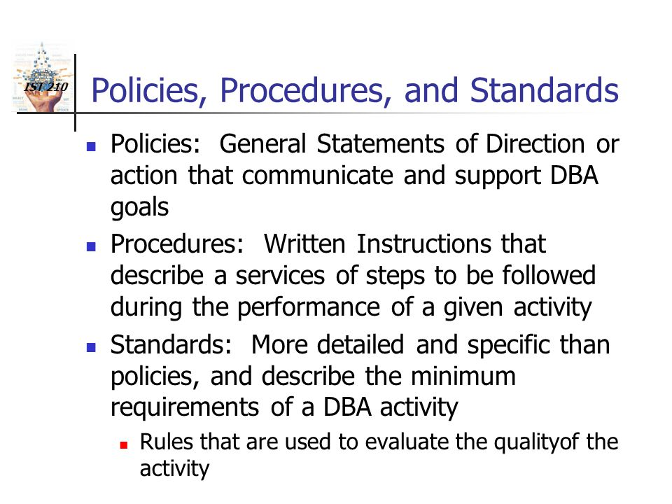 Describe The Policies And Procedures Essay Sample