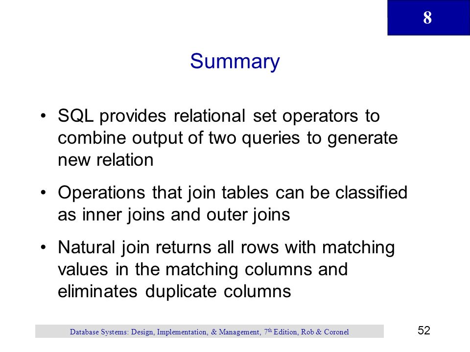 A Relational Database Overview