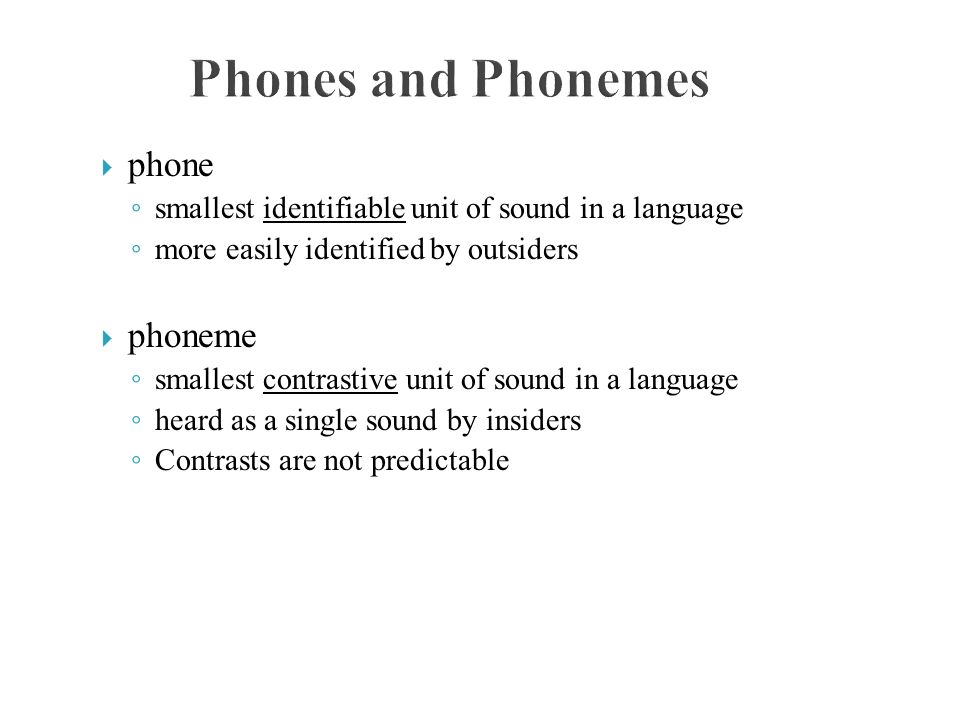 phoneme is the smallest unit english language essay Speech processing and language technology contains lots of special   phonemes are abstract units and their pronunciation depends on contextual  effects,  for example, a word lice contains a light /l/ and small contains a dark /l/   the articulatory phonetics in english and finnish are described more closely in  the end of.