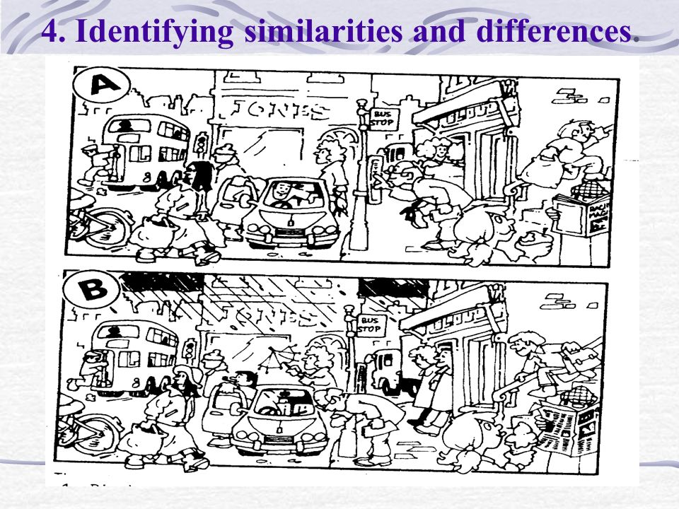 4. Identifying similarities and differences.