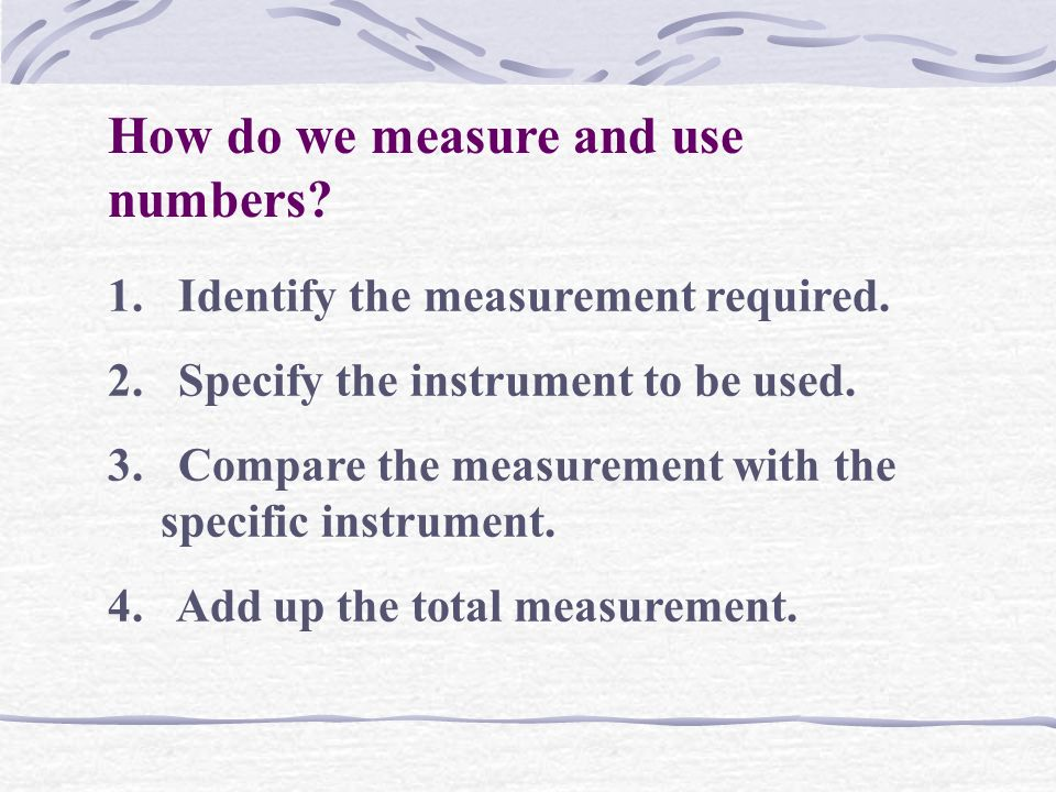 How do we measure and use numbers