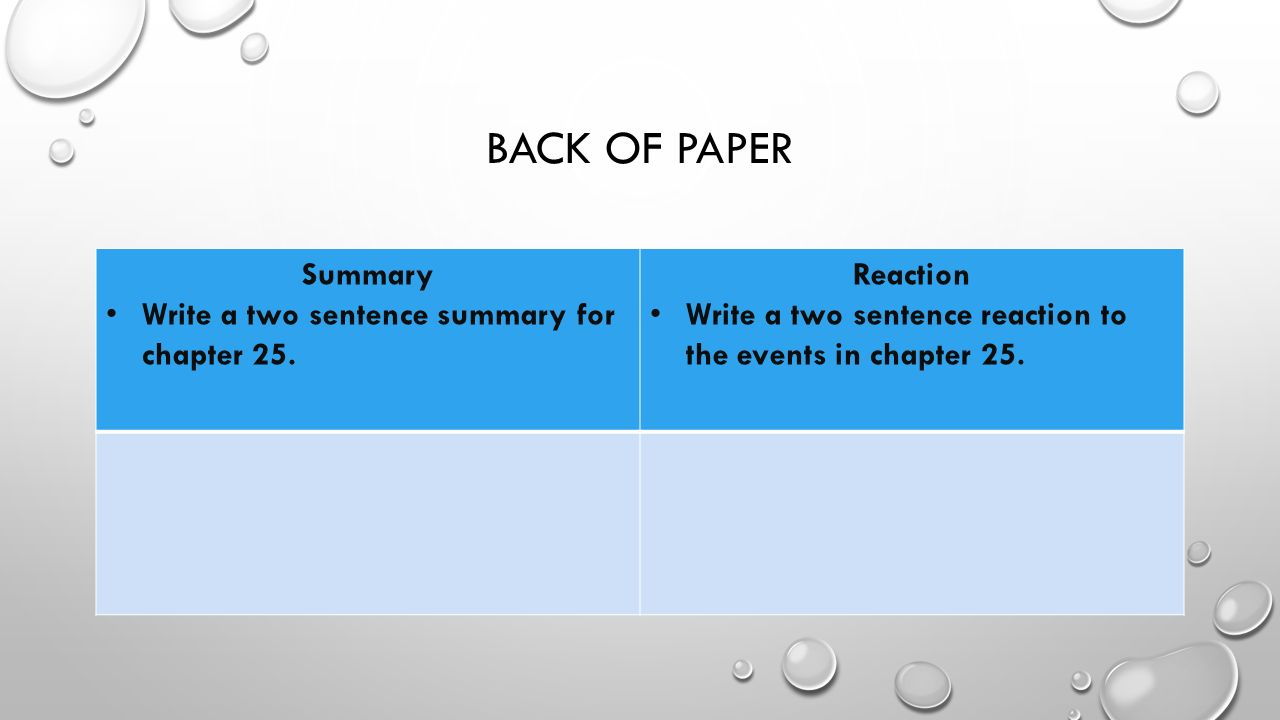 how to write a two page summary