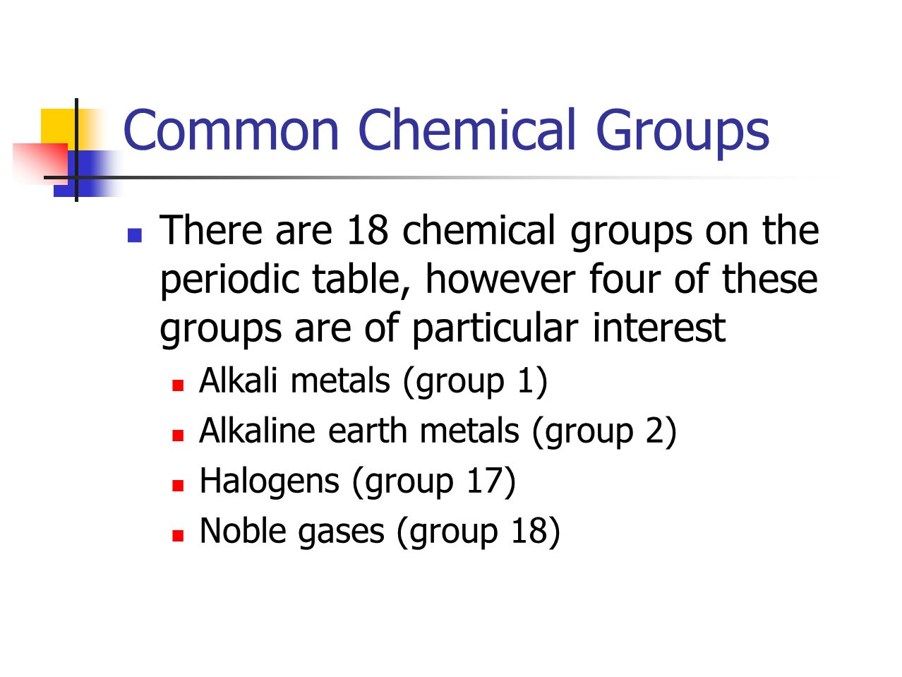 22 the periodic table p ppt video online download common chemical groups gamestrikefo Images