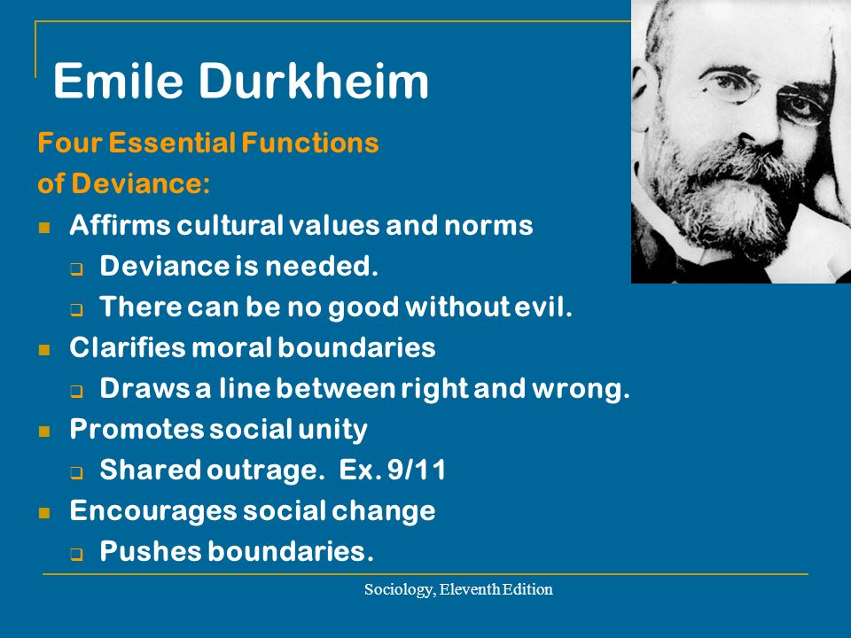"emile durkheim thesis on deviance It is true that durkheim gradually moved away from the word ""solidarity,"" probably   organic solidarity social cohesion mechanical solidarity deviant behavior."