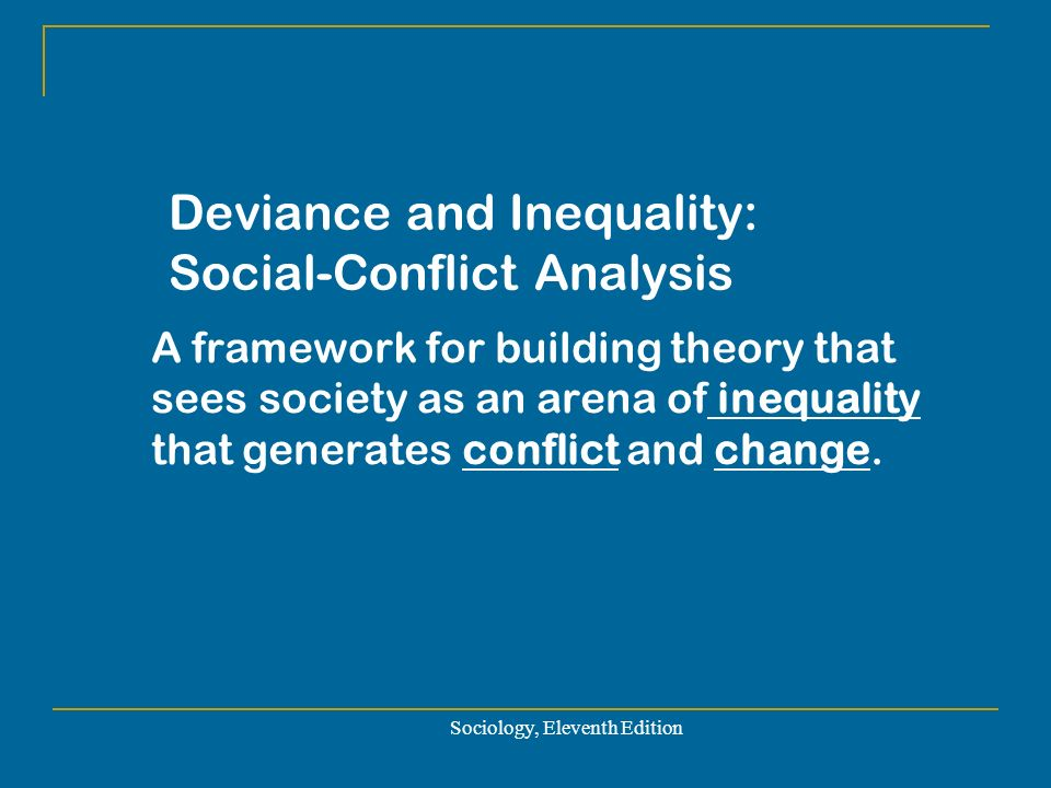 an analysis of social deviance in the society Deviance: functionalist explanations durkheim's major concern was with the analysis of social a functionalist analysis of deviance begins with society as a.