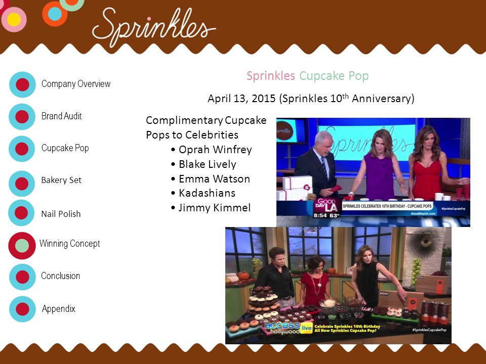 Sprinkles Cupcake Pop April 13, 2015 (Sprinkles 10th Anniversary)