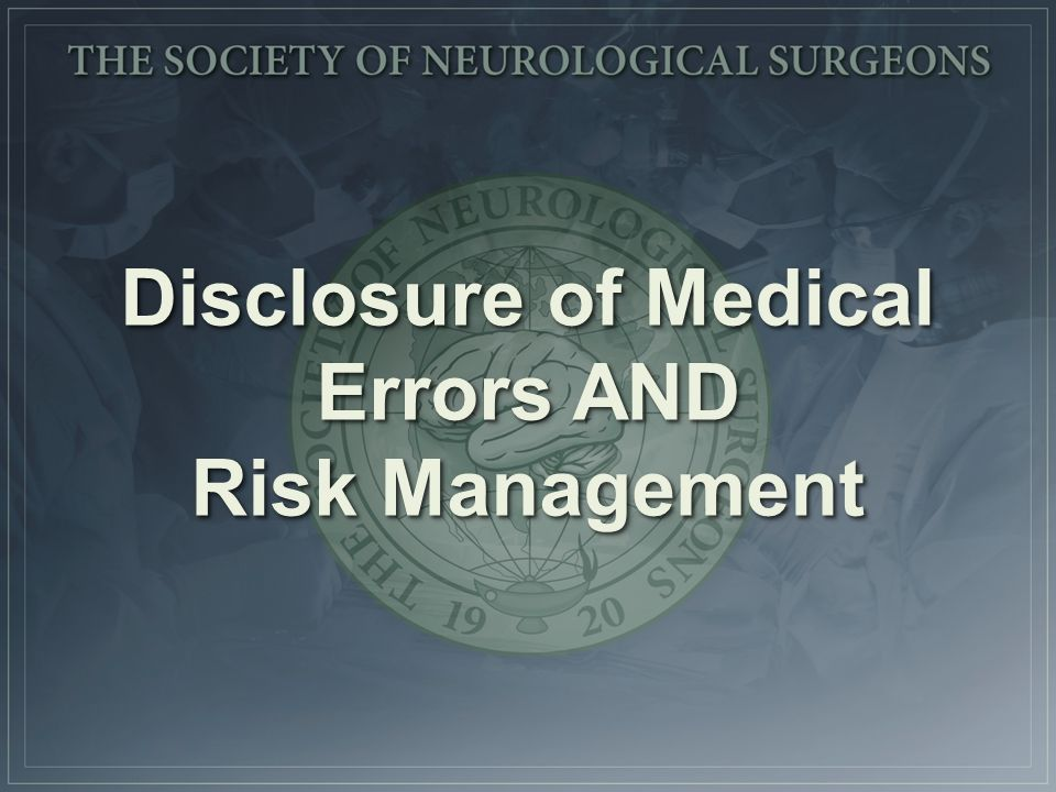 medical error disclosure case study Apology & disclosure of medical error: in favor of a duty to disclose medical error multiple studies have shown that per-case payments decreased by.