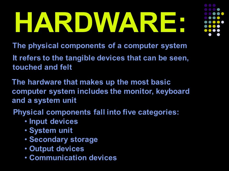 Elements Of A Computer System Hardware Software Peopleware