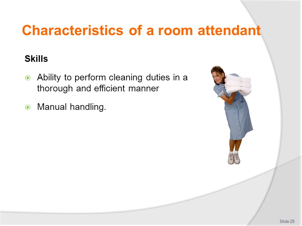 Characteristics Of A Room Attendant