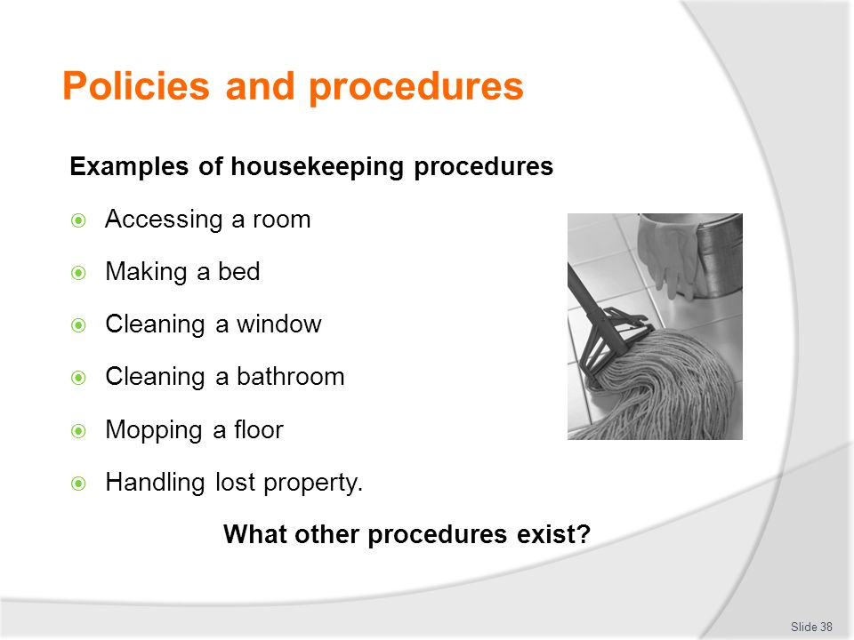 Clean and prepare rooms for incoming guests ppt download Housekeeping bathroom cleaning procedure
