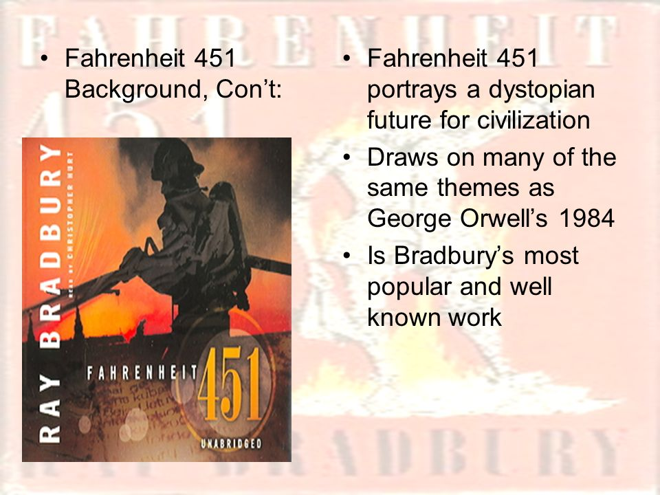 an analysis of poetry in the novel fahrenheit 451 by ray bradbury Fahrenheit 451, this stufy guide fahrenheit 451 is a dystopian novel by ray bradbury the novel presents a future american society where reading is outlawedfree study guides and book notes including comprehensive chapter analysis, complete summary analysis, author biography information, character profiles, theme analysis, metaphor analysis.