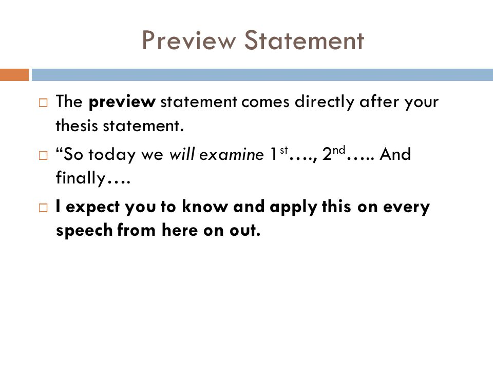 demonstrative speech thesis statement