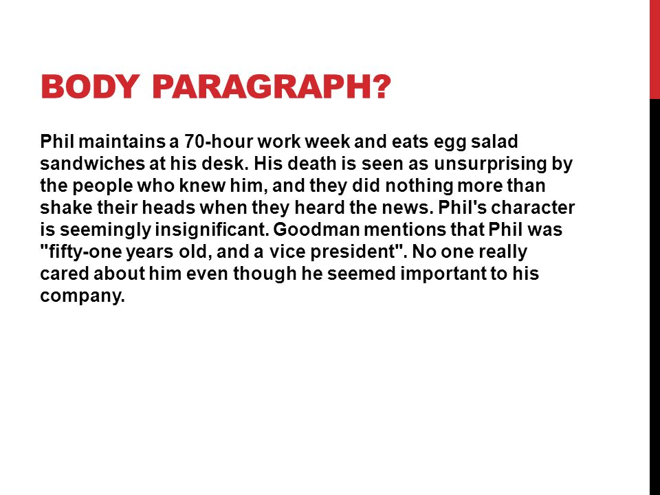 focus on the company man ppt video online  6 body paragraph
