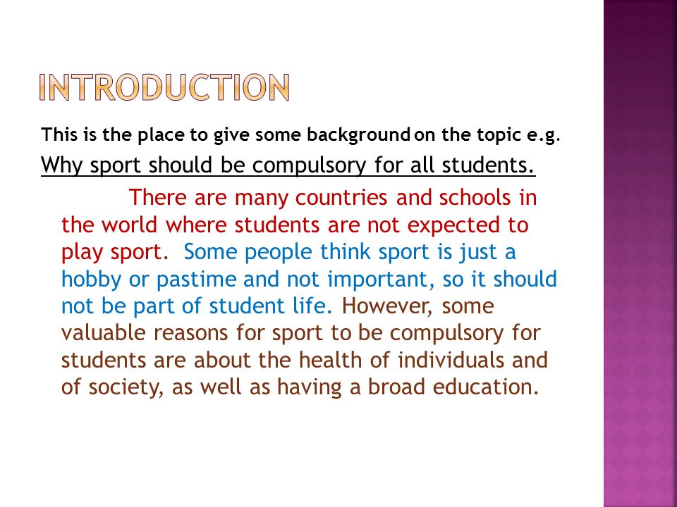 should sport be compulsory at schools Get access to sport should not be compulsory in schools essays only from anti essays listed results 1 - 30 get studying today and get the grades you.