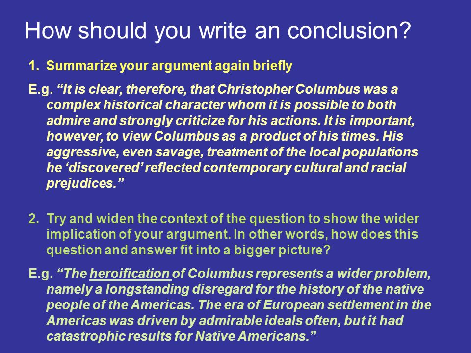 Christopher columbus essay conclusion