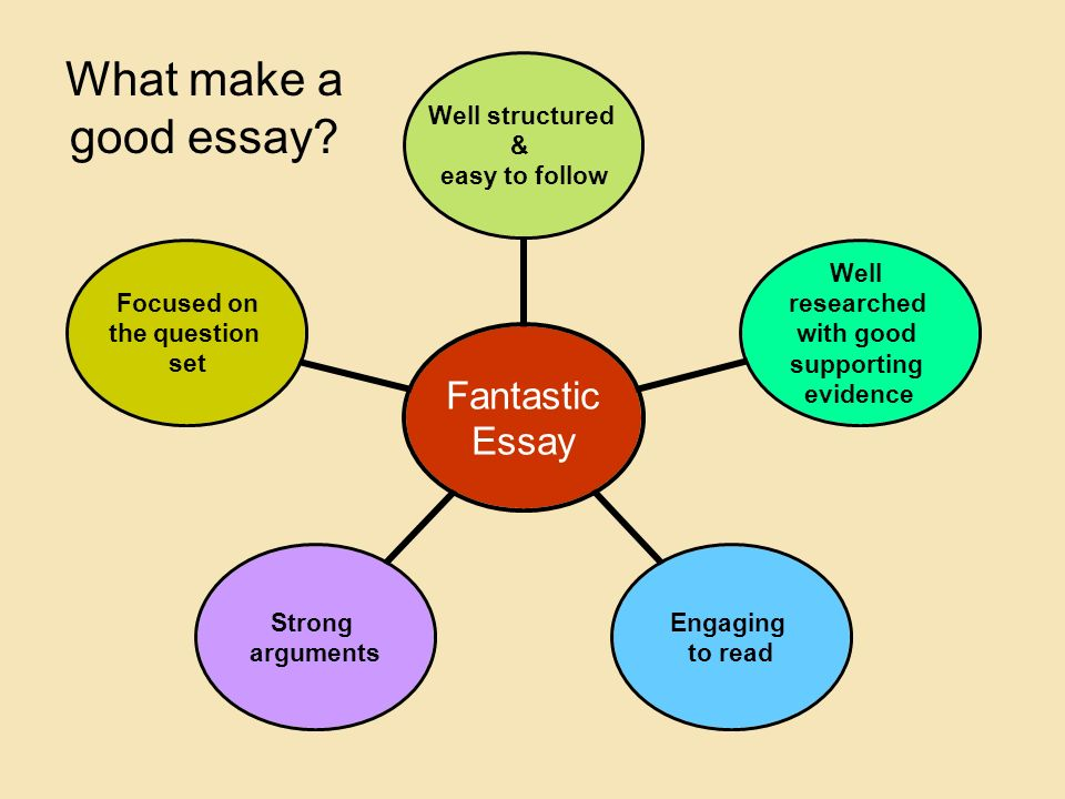 How to make a good essay