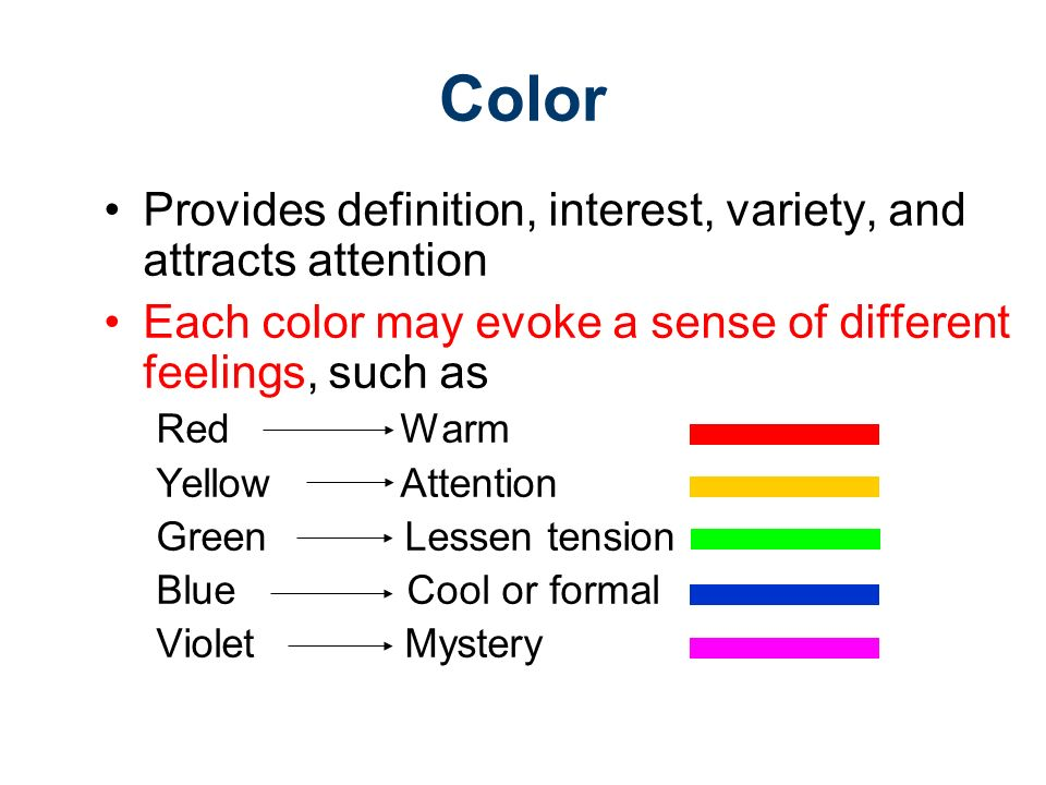 Elements Of Design Colour Definition : The elements of design gateway to