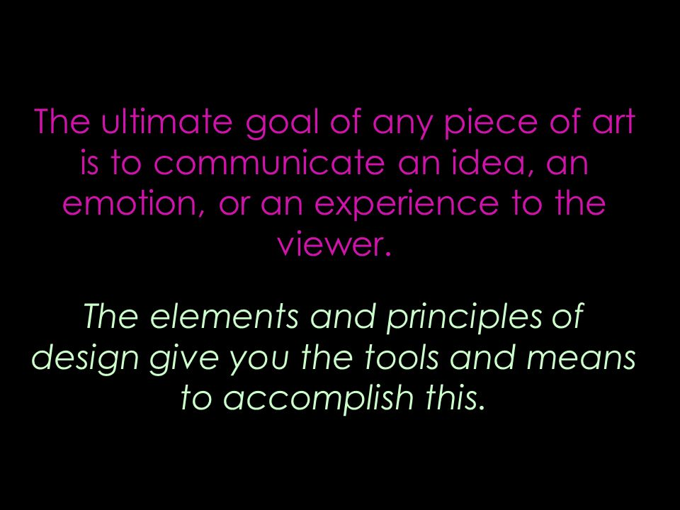 Give The Elements Of Art : The compositions organizing ideas ppt video online download