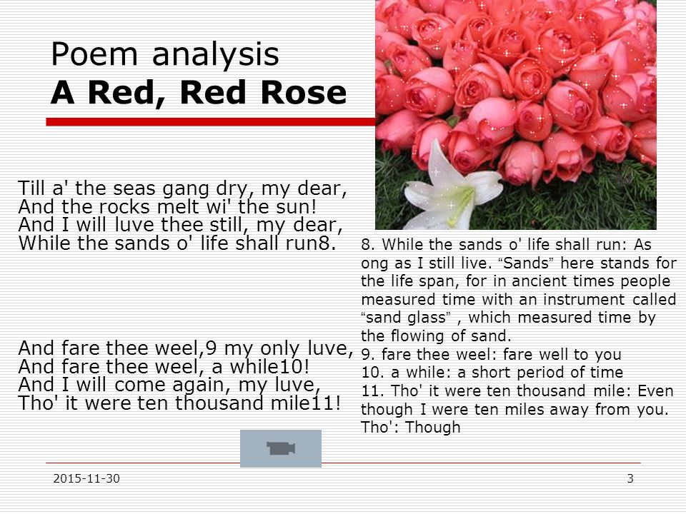 analysis of the poem the red 1anne carson is a contemporary canadian poet, essayist and translator  5 carson's full title of her work reads: autobiography of red, a novel in verse   his autobiography is a place in which he analyses his own life through the  process of.