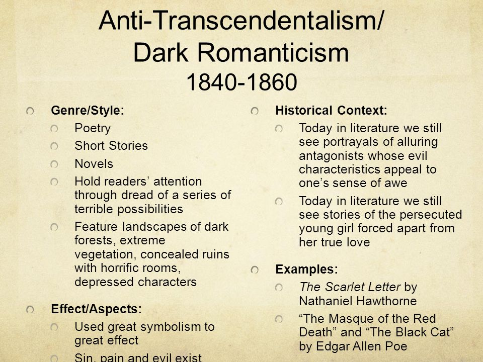 Anti Transcendentalism in the Literary Works of Edgar ...