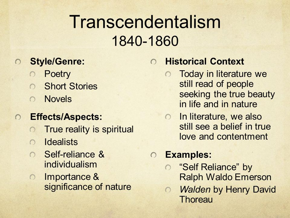 transcendentalism in the stories nature by ralph waldo emerson and henry david thoreaus walden The transcendentalist view of nature in emerson and thoreau essay sample  both ralph waldo emerson and henry david thoreau were two writers who believed in.