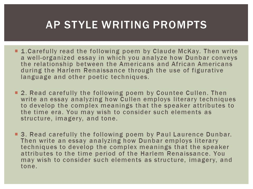 harlem renaissance poetry ppt video online  13 ap style writing prompts