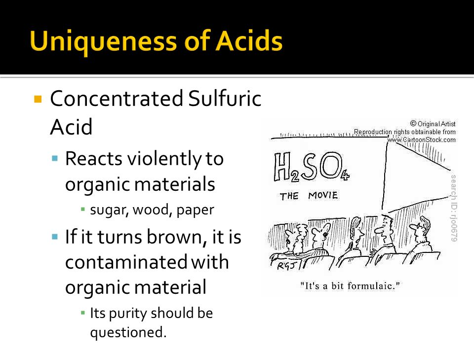concentration of sulfuric acid Sulfuric acid 2 august 2009 existing medical conditions possibly aggravated by exposure: skin irritation may be aggravated in individuals with existing skin lesions.