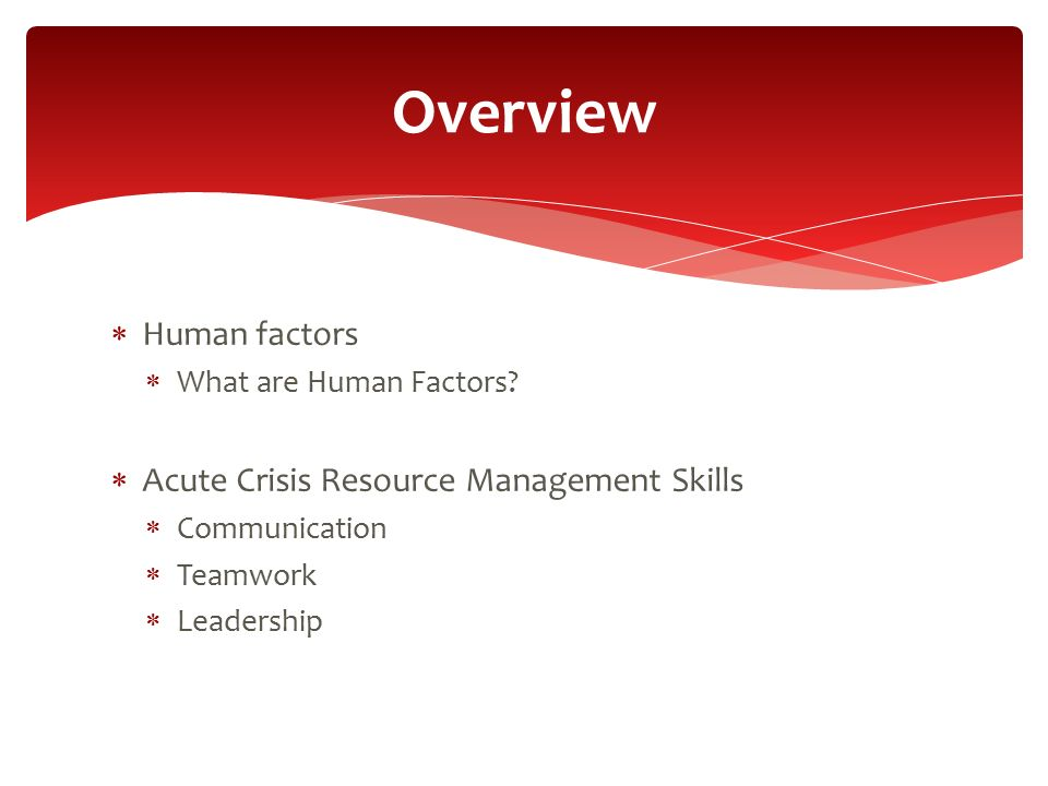 Crisis Resource Management : Acute crisis training with simulation acts ppt video