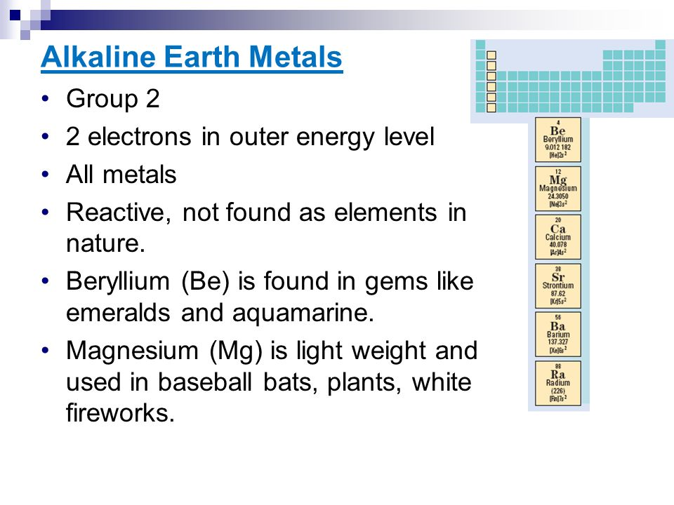 Periodic table alkaline earth metals position periodic table organization of the periodic table ppt download periodic table alkaline earth metals urtaz Gallery
