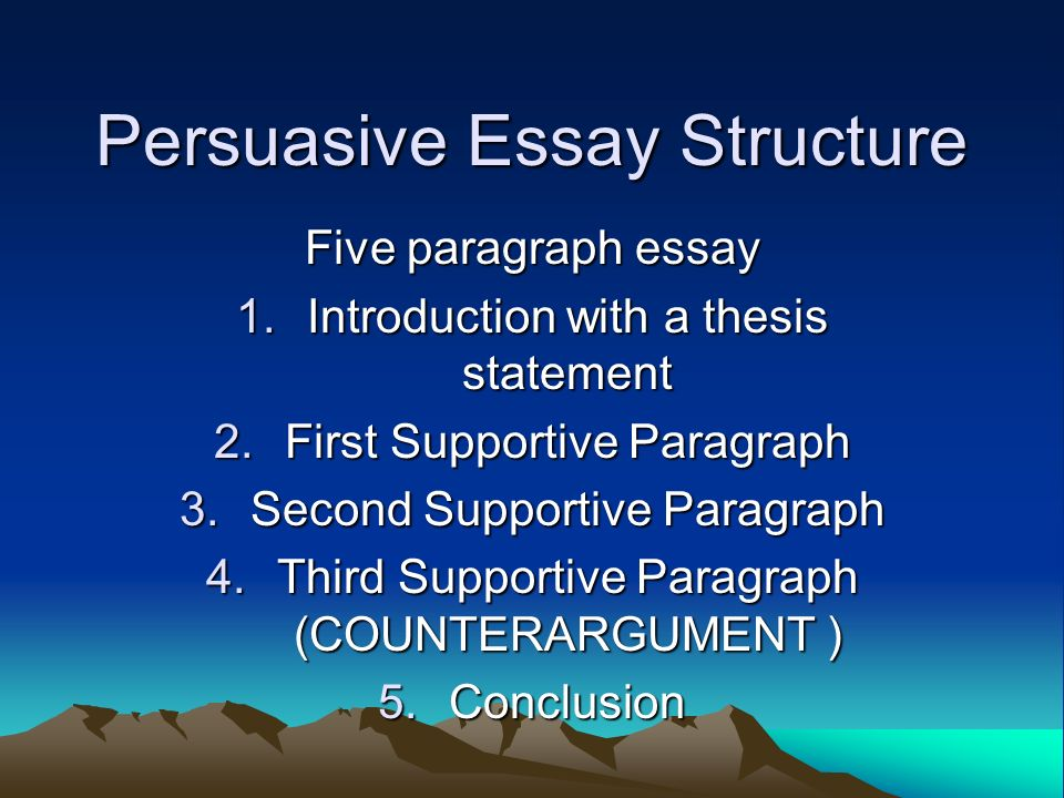 argumentative essay construction Constructing essays essays are the most common form of assessments at university like all other assignments, essays require adequate planning, preparation and research.