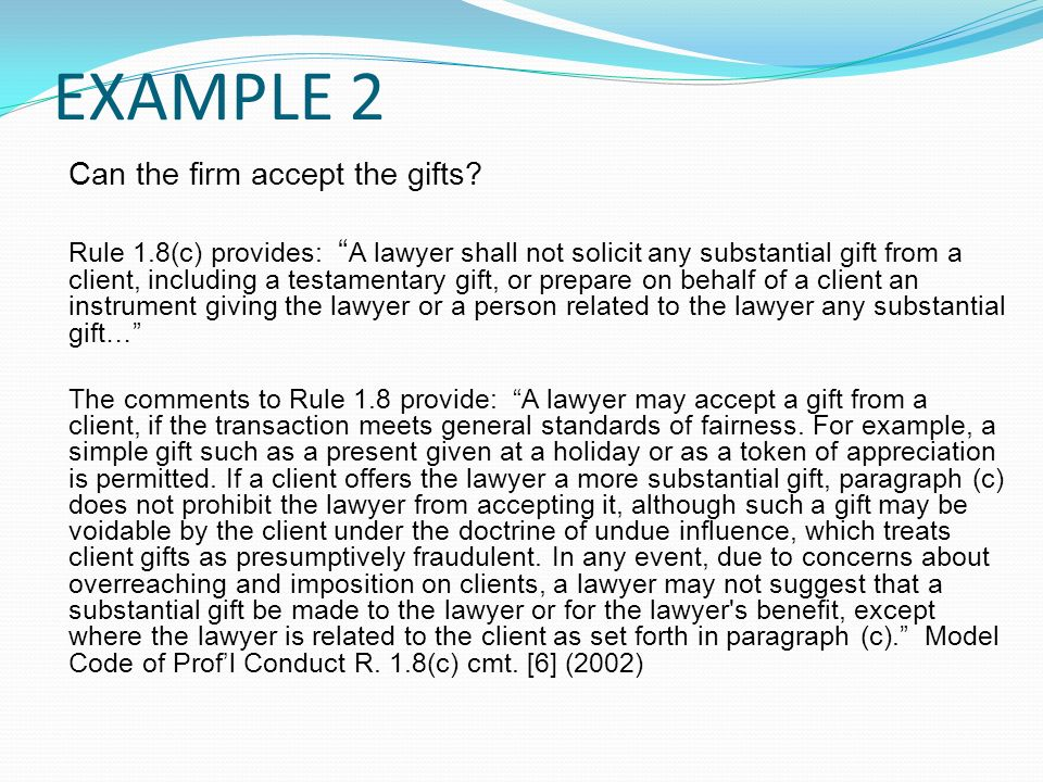 PA 305 Law Office Management Unit 3 Seminar Conflicts of Interest ...