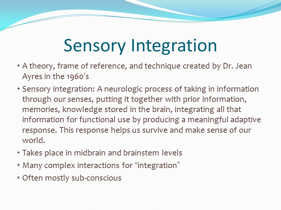 Sensory Savvy in Children and Young Adults - ppt video online download