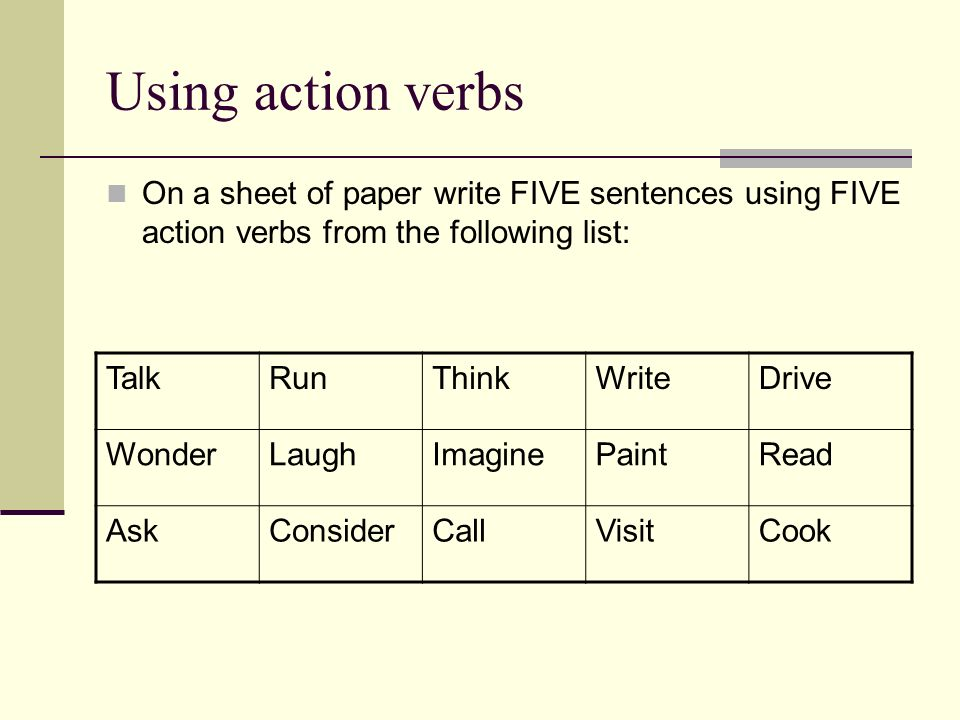 "action verbs for research papers Lesson 3: research objectives by completing action b"" you then have to explain or detail action b through a set of specific objectives."