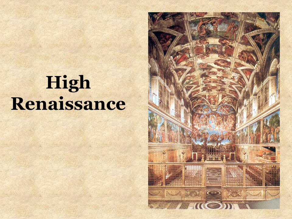 the artists of the high renaissance essay Renaissance art history essays the transition from the middle ages to modern times between the one important artist of the high renaissance is leonardo da.