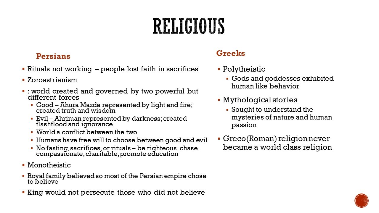 compare and contrast roman religion and greek religion 9 greco-roman religion and philosophy the ancient greek and roman worlds made important contributions to both religion and philosophy, the study of the nature of.