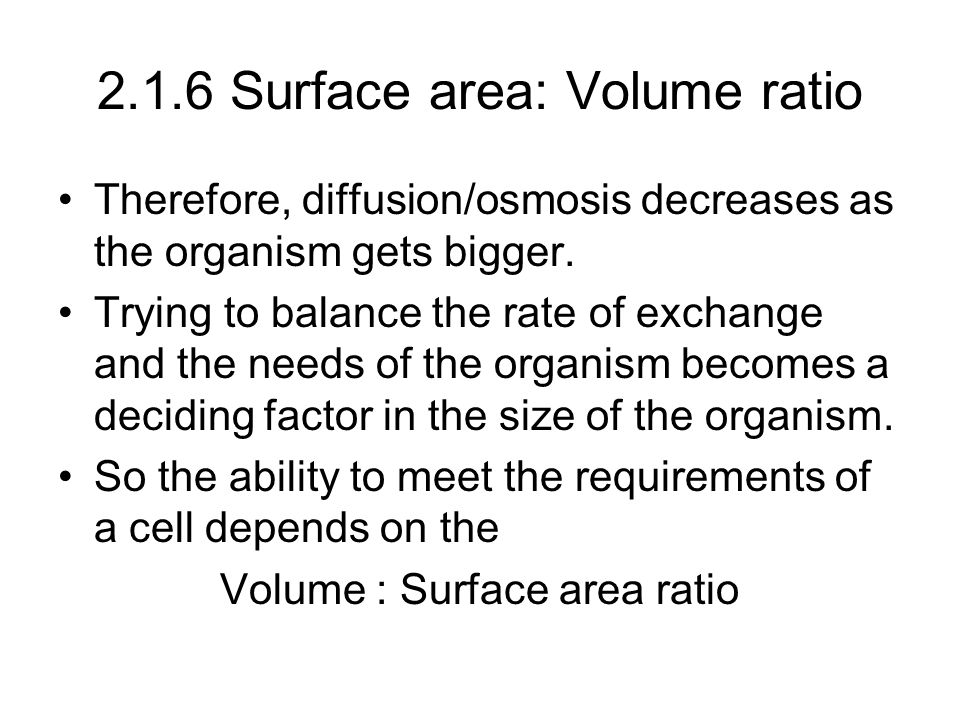 Investigating Surface Area to Volume Ratio concerning the rate of Diffusion Essay