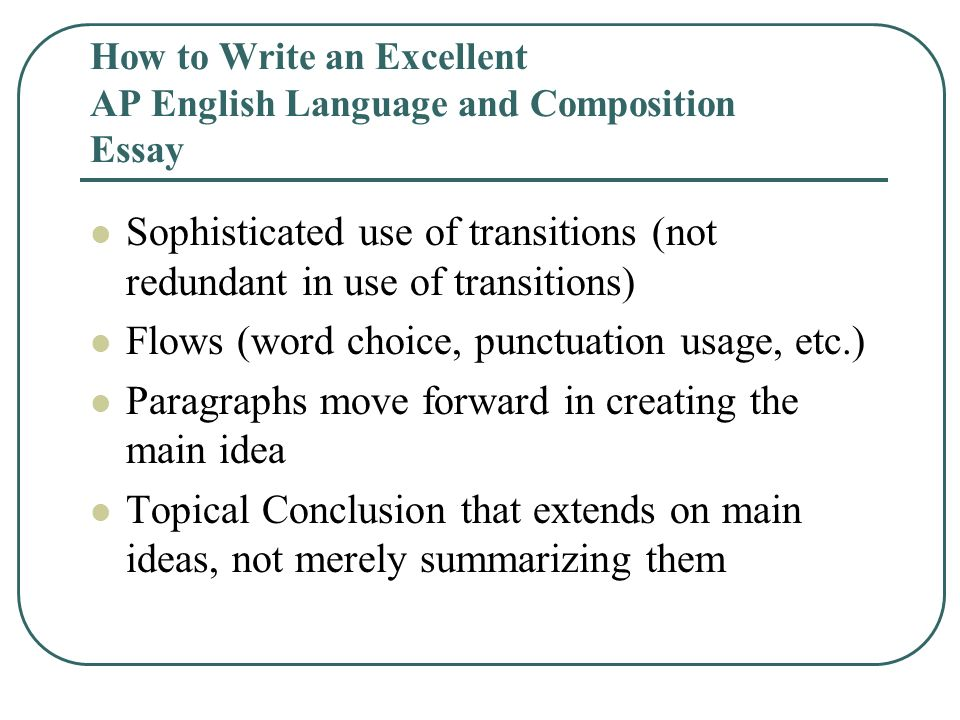 sophisticated essay language