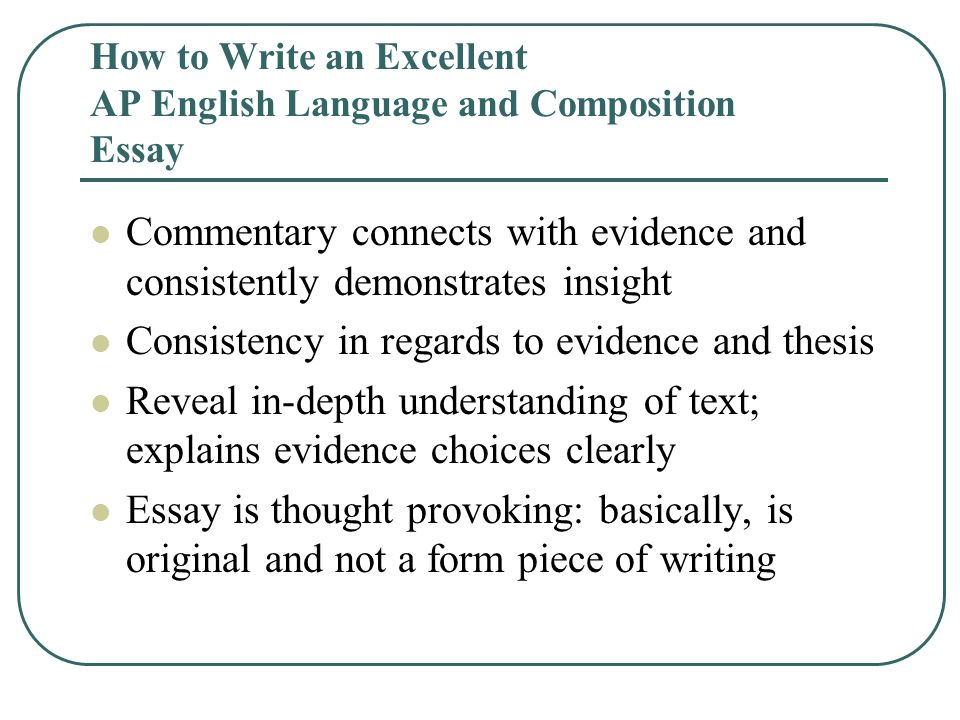 How to write an english language analysis essay