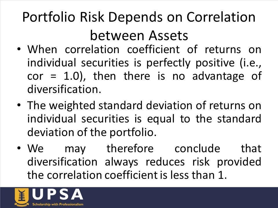portfolio effect on risk and return Start studying cfa 143 los portfolio risk and return: part i learn vocabulary, terms, and more with flashcards, games, and other study tools.