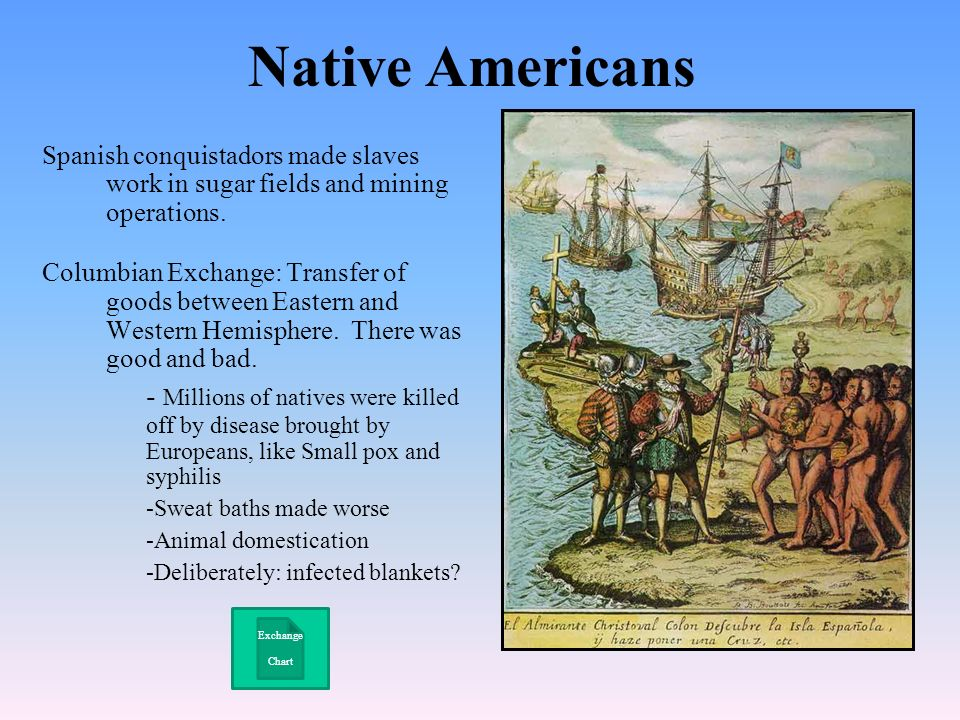 impact of europeans on native americans What did europeans bring to america how did european contact affect north american environment and native american society impact of three factors.